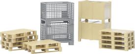 Bruder 02415 Zubehör: Logistik-Set, ab 3 Jahren, Maße: 20,3 x 5,1 x 12,7 cm, Kunststoff