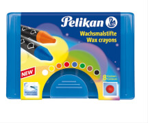 Pelikan Wachsmalstift 8er Box blau, rund