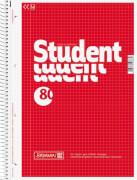 BRUNNEN 1067942  Collegeblock  Student  Deckblatt: rot